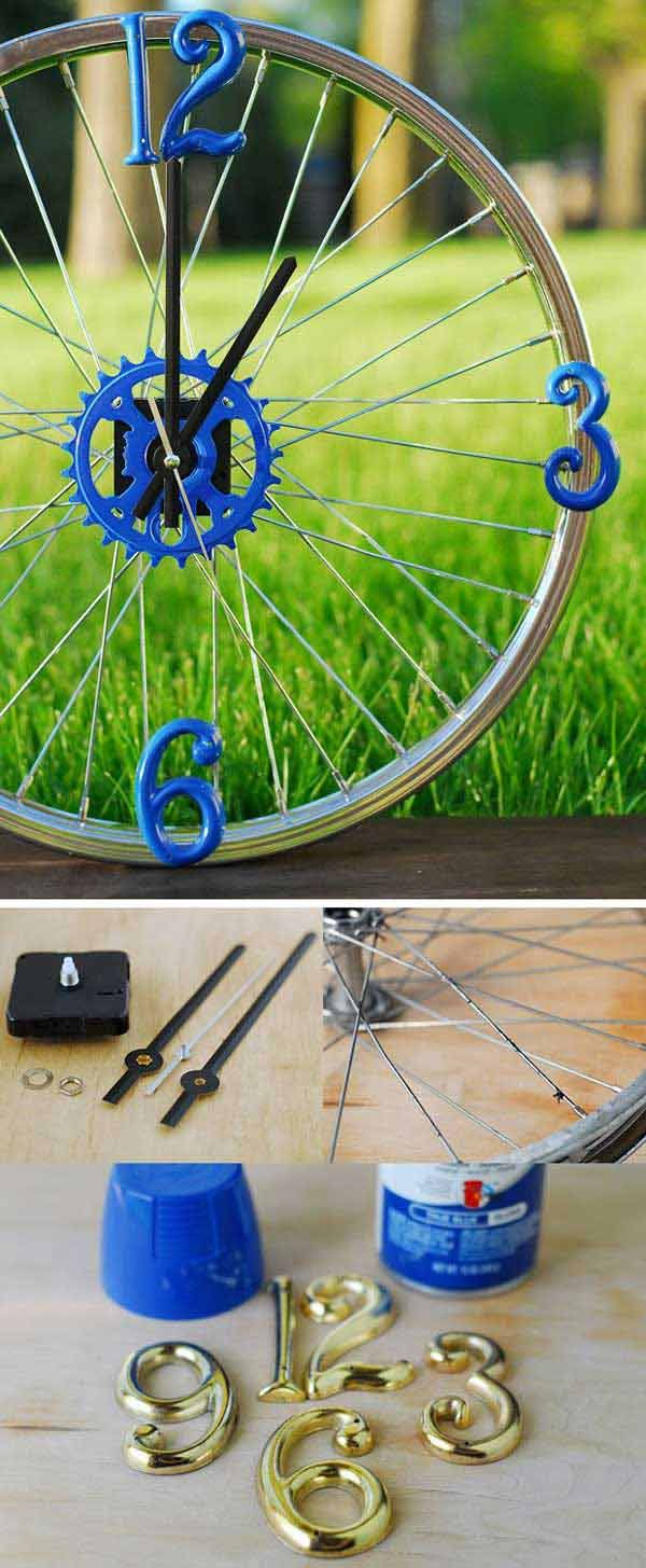 21 Awesomely Creative DIY Crafts Re-purposing Bike Rims   Shabby ...