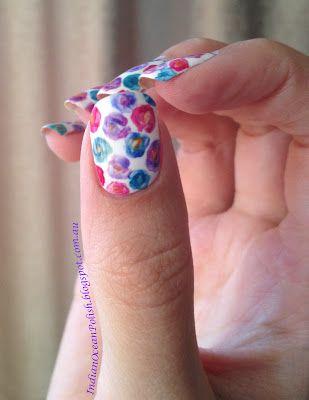 thumb  flower nail art ring finger nails nail art