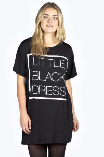 b2a948167b Aleena Black Dress T Shirt Dress at boohoo.com  26