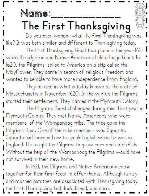 Second grade thanksgiving math ela packet common core aligned the first thanksgiving reading passage part of common core 2nd grade ibookread Download