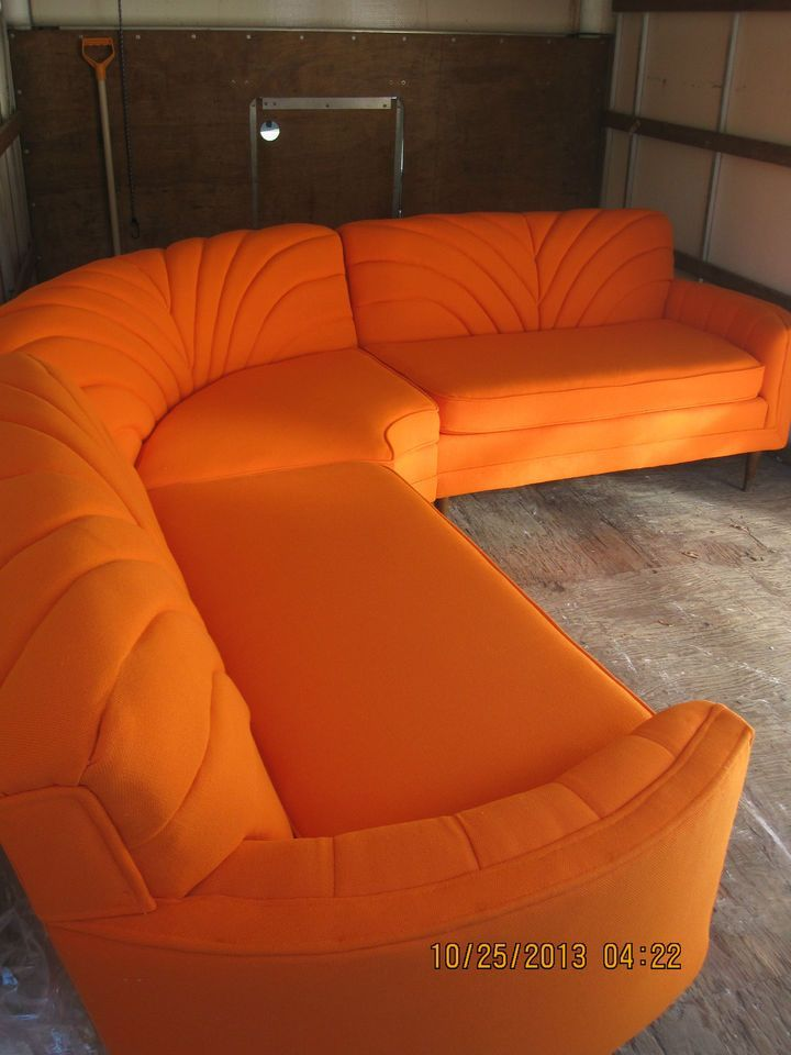I Love This Orange And All 1950 S Sectional Sofa 1950 S