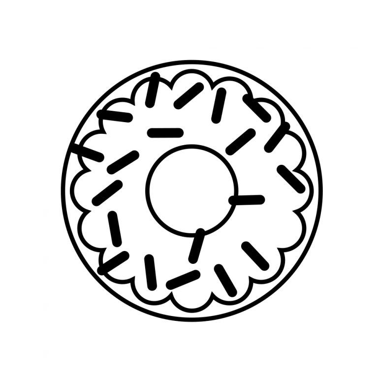 Donut Coloring Pages Donut Coloring Page Coloring Pages For