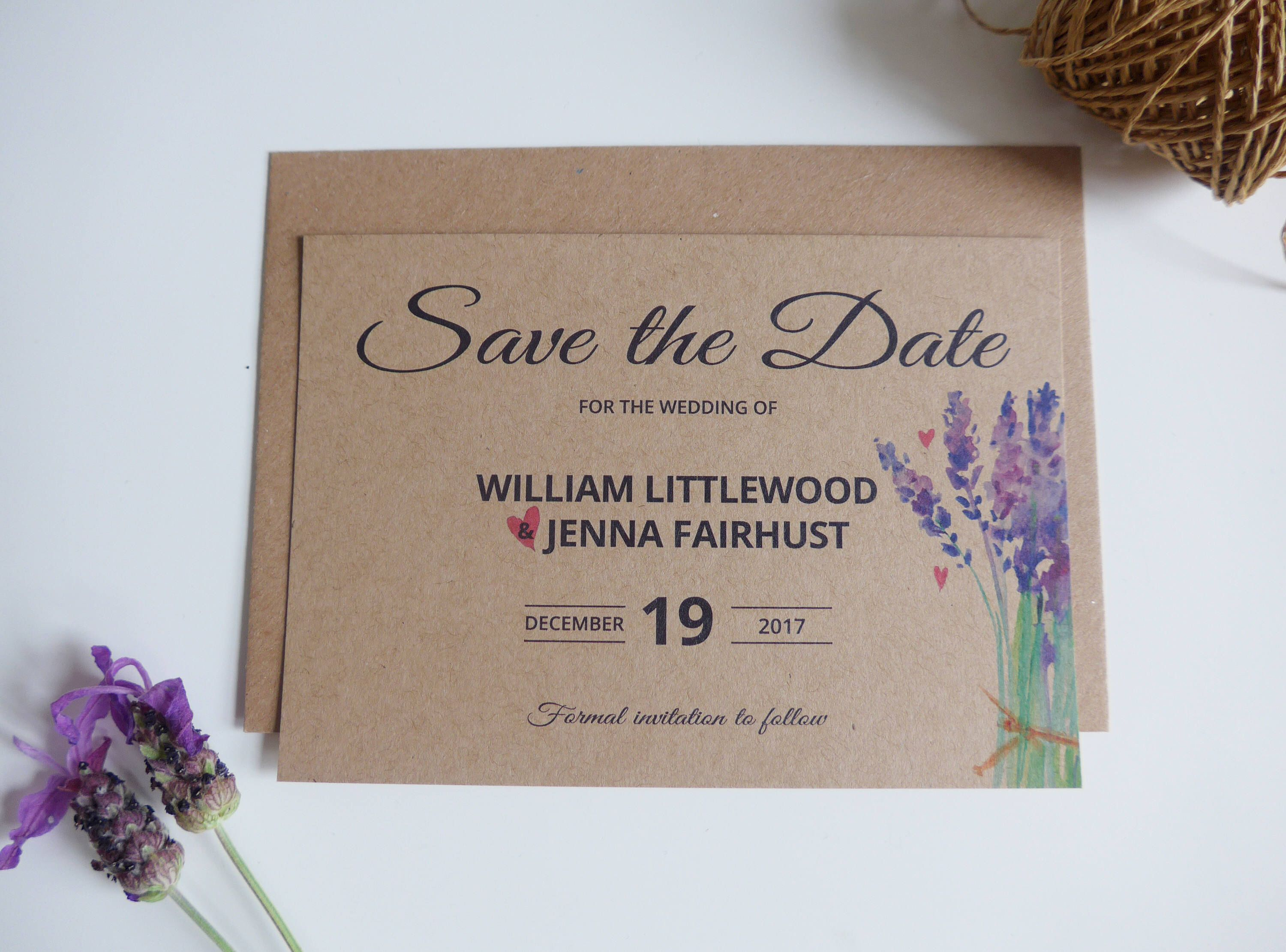 Weddings Save the Date Card Rustic Save the Date