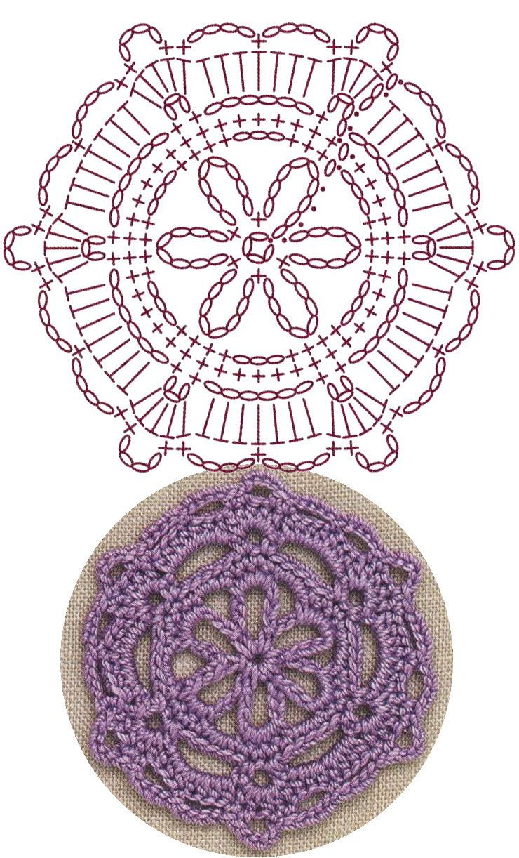 No.6 Snowflake Medallion Lace Crochet Motifs / 눈송이 메달리온 ...
