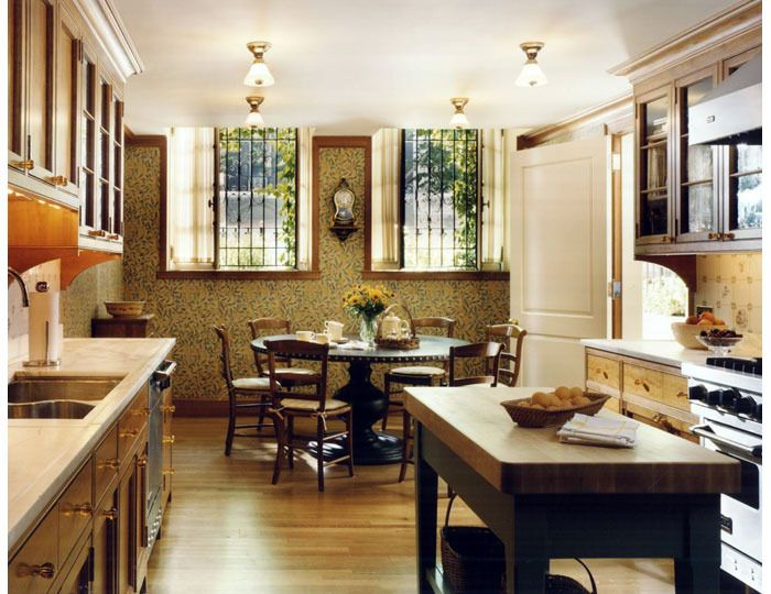 Upper East Side Townhouse The Newly Designed Kitchen Has Antique Details  Intended To Blend With The