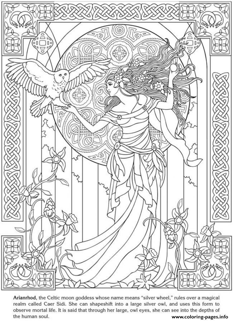 - Print Art Anti Stress Adult Fancy Fairy Coloring Pages (With Images)  Celtic Coloring, Coloring Pages, Free Coloring Pages