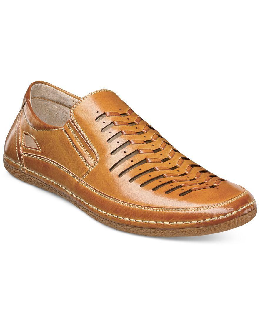 Stacy Adams BELMAR Mens White Closed Toe Hook And Loop Sandals Shoes