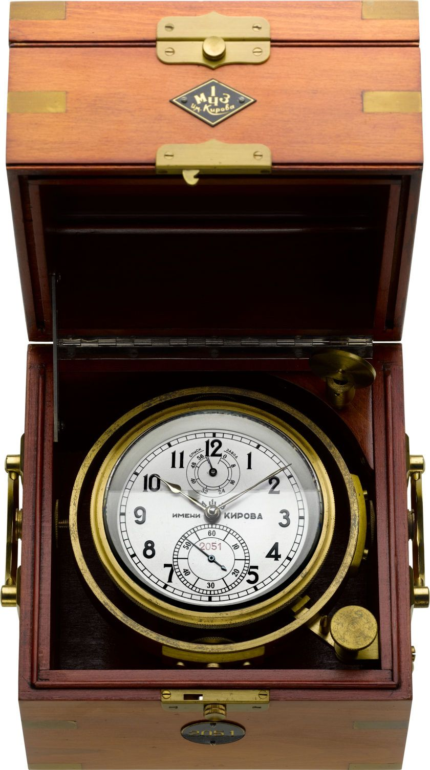 Timepiecesclocks russian naval ships chronometer with 56 hour timepiecesclocks russian naval ships chronometer with 56 hour wind indicator circa1956 amipublicfo Images