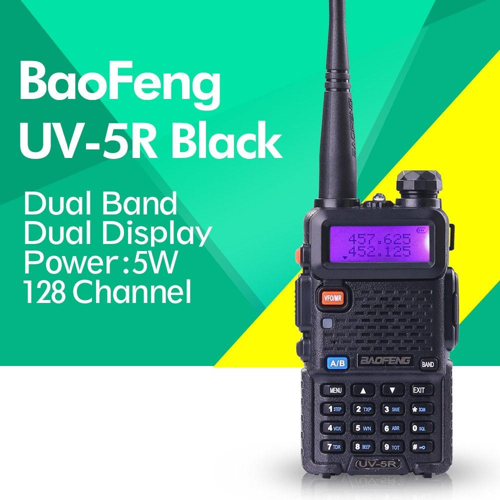 Baofeng UV-5R UHF VHF Dual Band Two Way Ham Radio Walkie Talkie