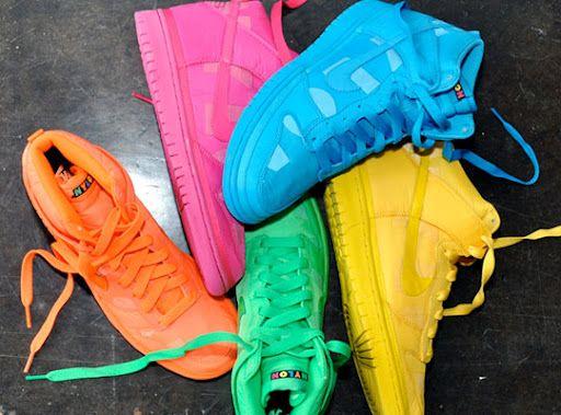 sneakers | Neon sneakers, Nike neon, Neon shoes