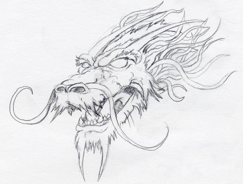 Cool Dragon Head Drawings In Pencil | www.pixshark.com ...