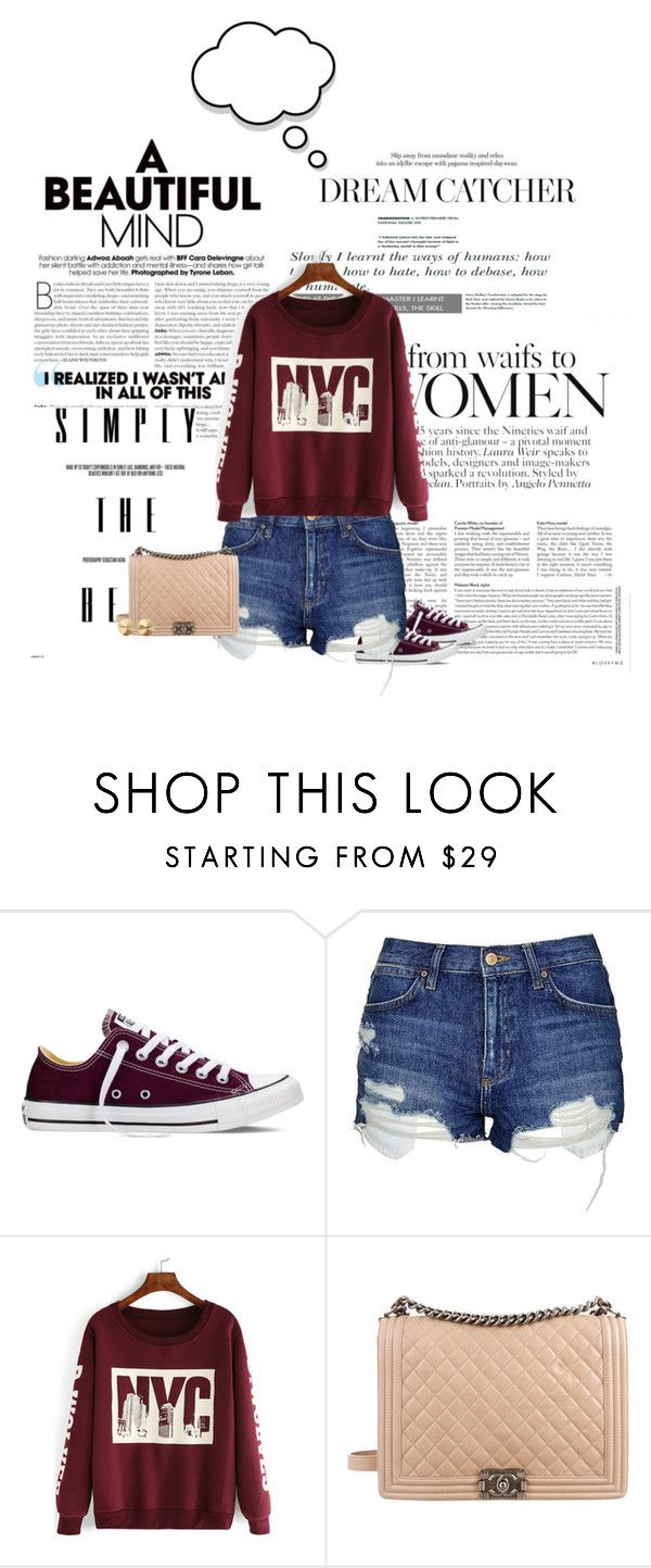 """""""finally we're all on the same page"""" by paolanoel on Polyvore featuring Converse, Topshop, Chanel and Eddie Borgo"""