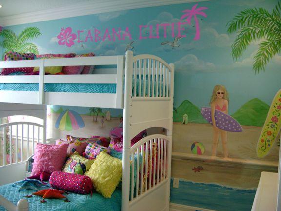 Tropical Girls Room Tween Girl Bedroom Beach Themed Bedroom
