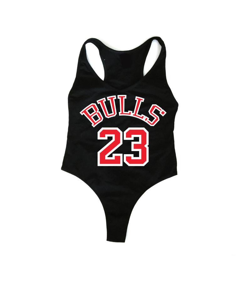 643f5148f0d3f BULLS 23 Black Bodysuit | Bulls ♡ in 2019 | Black bodysuit ...