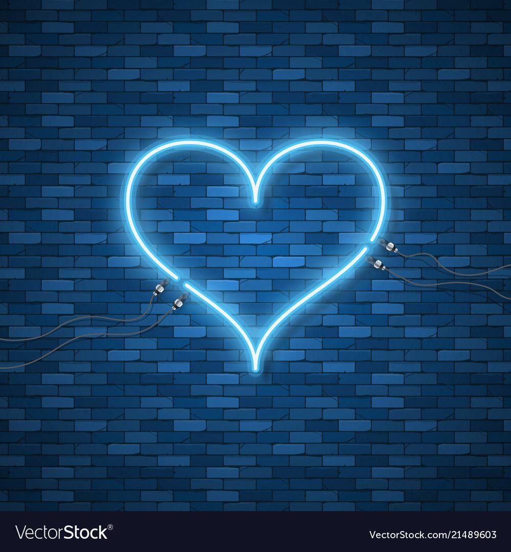 Bright Heart Neon Sign Retro Blue Neon Heart Sign On Dark Background Design Element For Happy Valentin Wallpaper Iphone Neon Blue Neon Lights Neon Wallpaper Aesthetic wallpaper blue heart