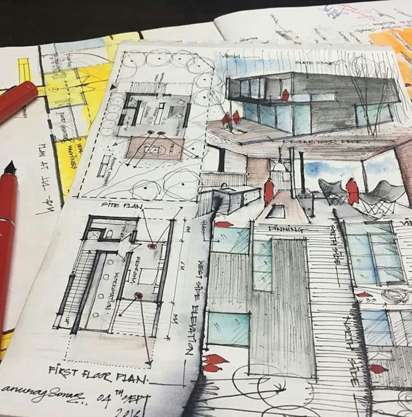 Pin By Jury Bladimir On Sketch Skiss Creative Process Design Architecture Concept Drawings Architecture Sketch