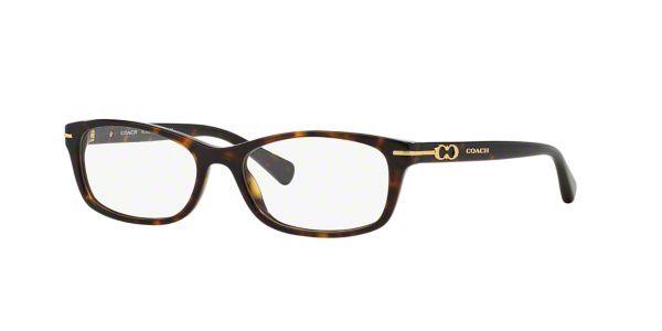 68647189c33 HC6054  Shop Coach Tortoise Rectangle Eyeglasses at LensCrafters ...