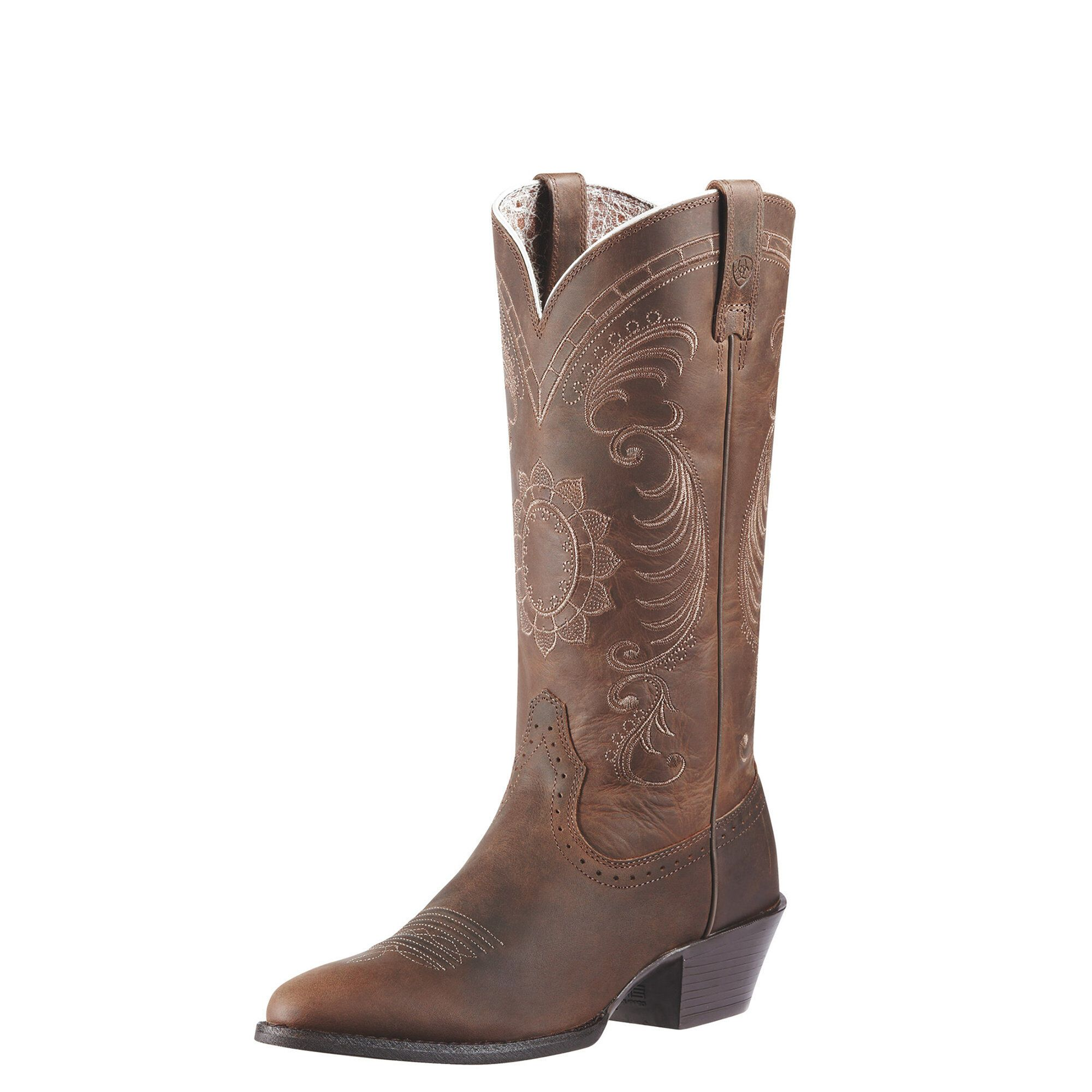 Buy ARIAT Women's Ammorette Western Cowboy Boot, Brushed