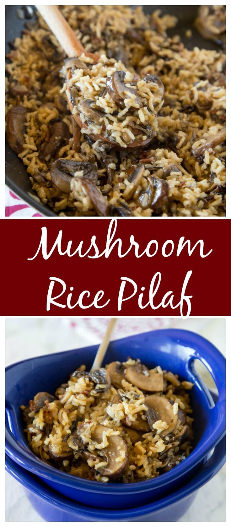 Mushroom rice pilaf an easy homemade rice pilaf with for Rice side dishes for fish