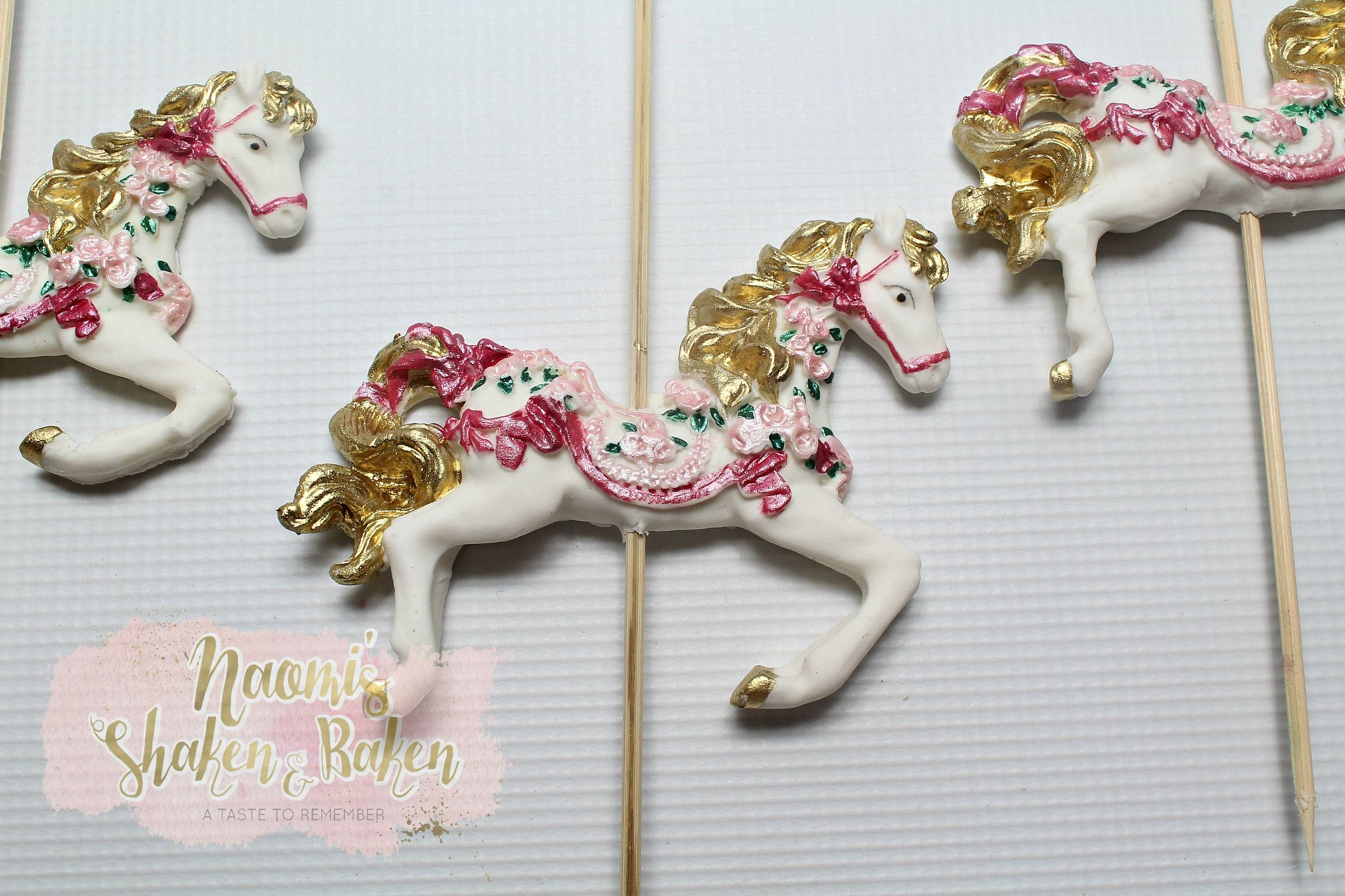 Carousel horse cake toppers edibletopper topper