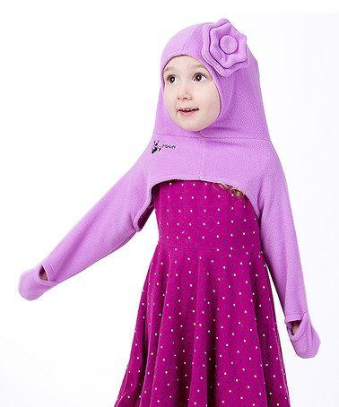 Look at this #zulilyfind! Purple Flower Minkey Hoodie - Infant & Toddler #zulilyfinds