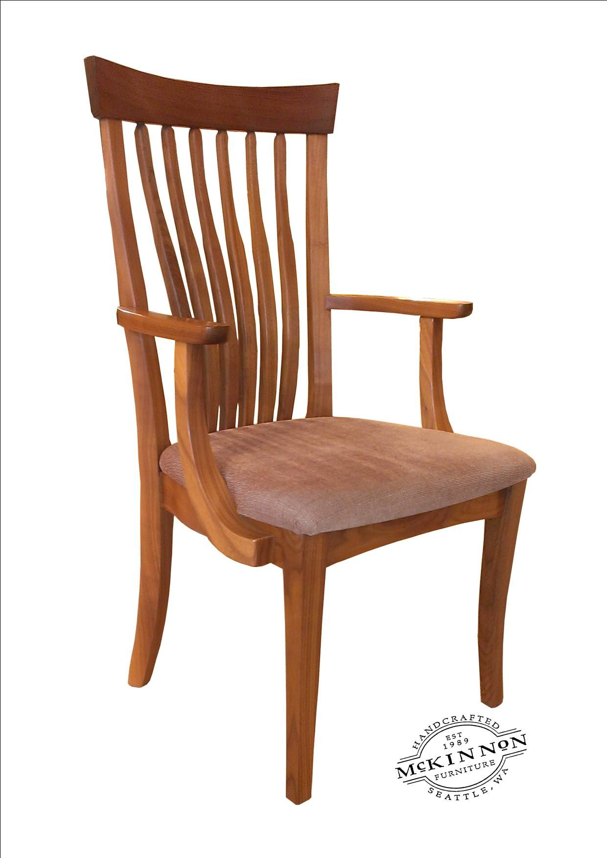 Pacific High Back with Fleur arms and upholstered seat