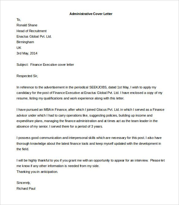free cover letter template word pdf documents download funds within - Latest Cover Letter Format