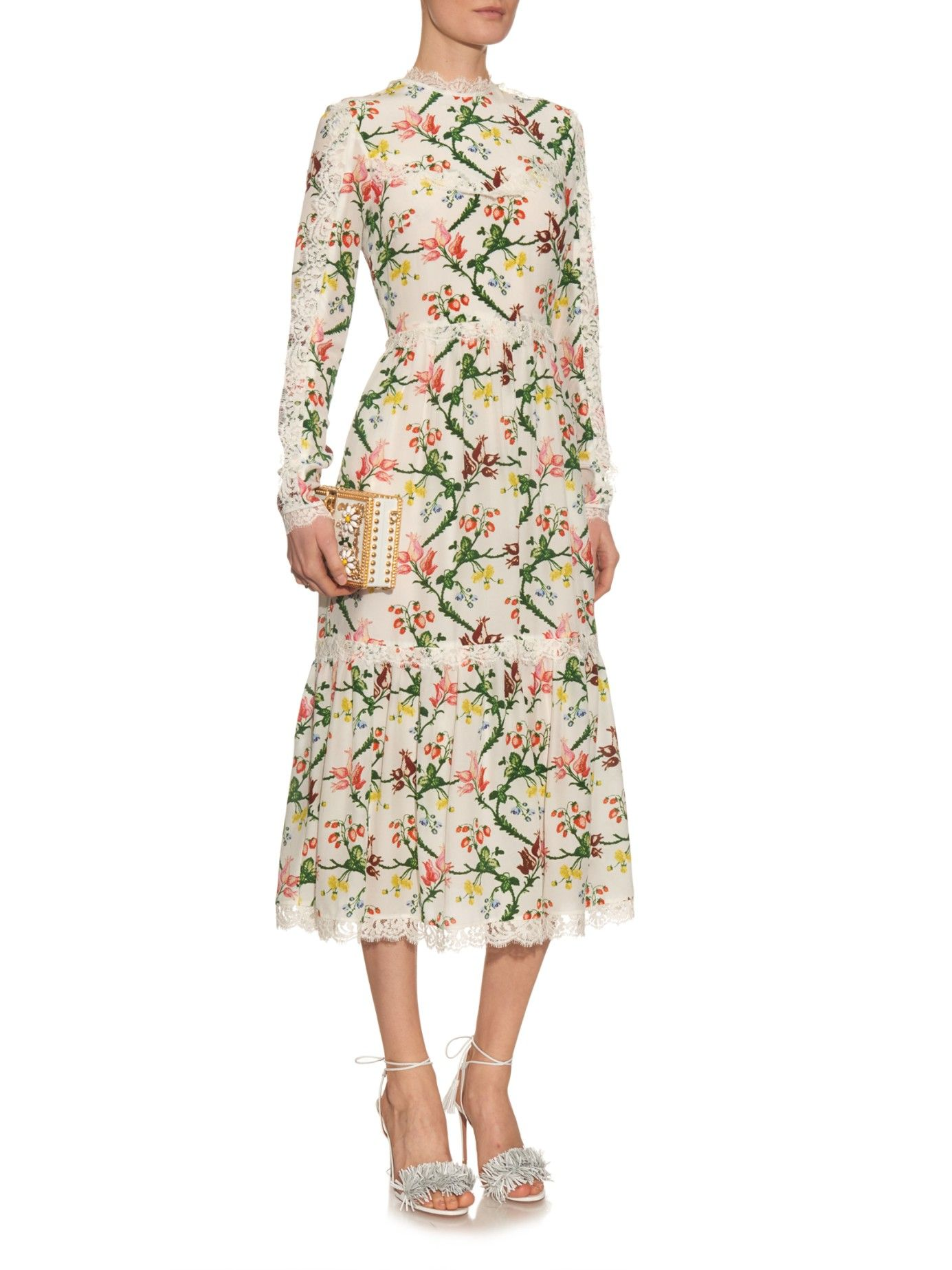 Erdem silk and lace dress