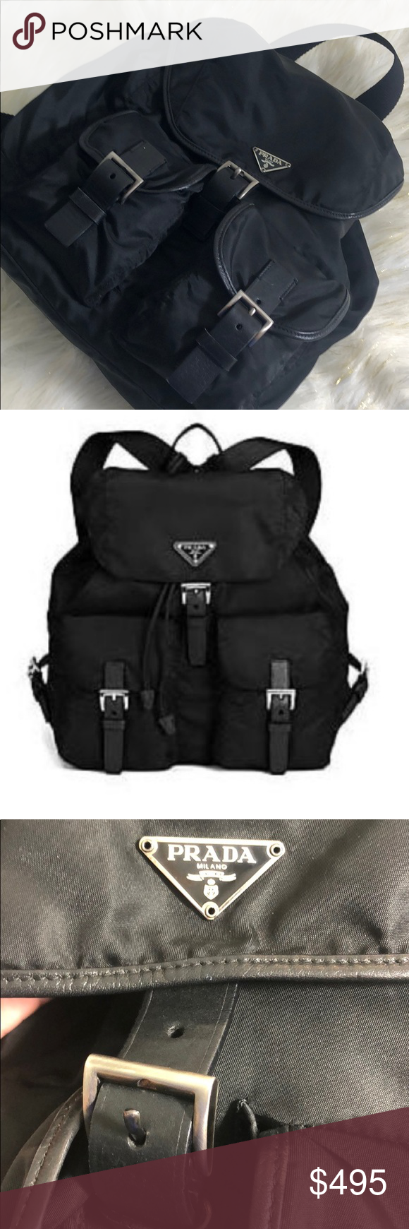 b2dea2c78676ee Large Prada Nylon Backpack Purse Authentic Tessuto Super cute Prada backpack  in almost like new condition