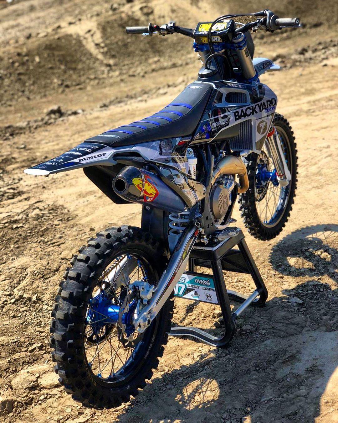Different Colors For Jaredhicks517 S Husqvarna Custom Graphic Kit In Grey Blue Bydteam Motocross Bikes Custom Dirt Bike Dirt Bike Room