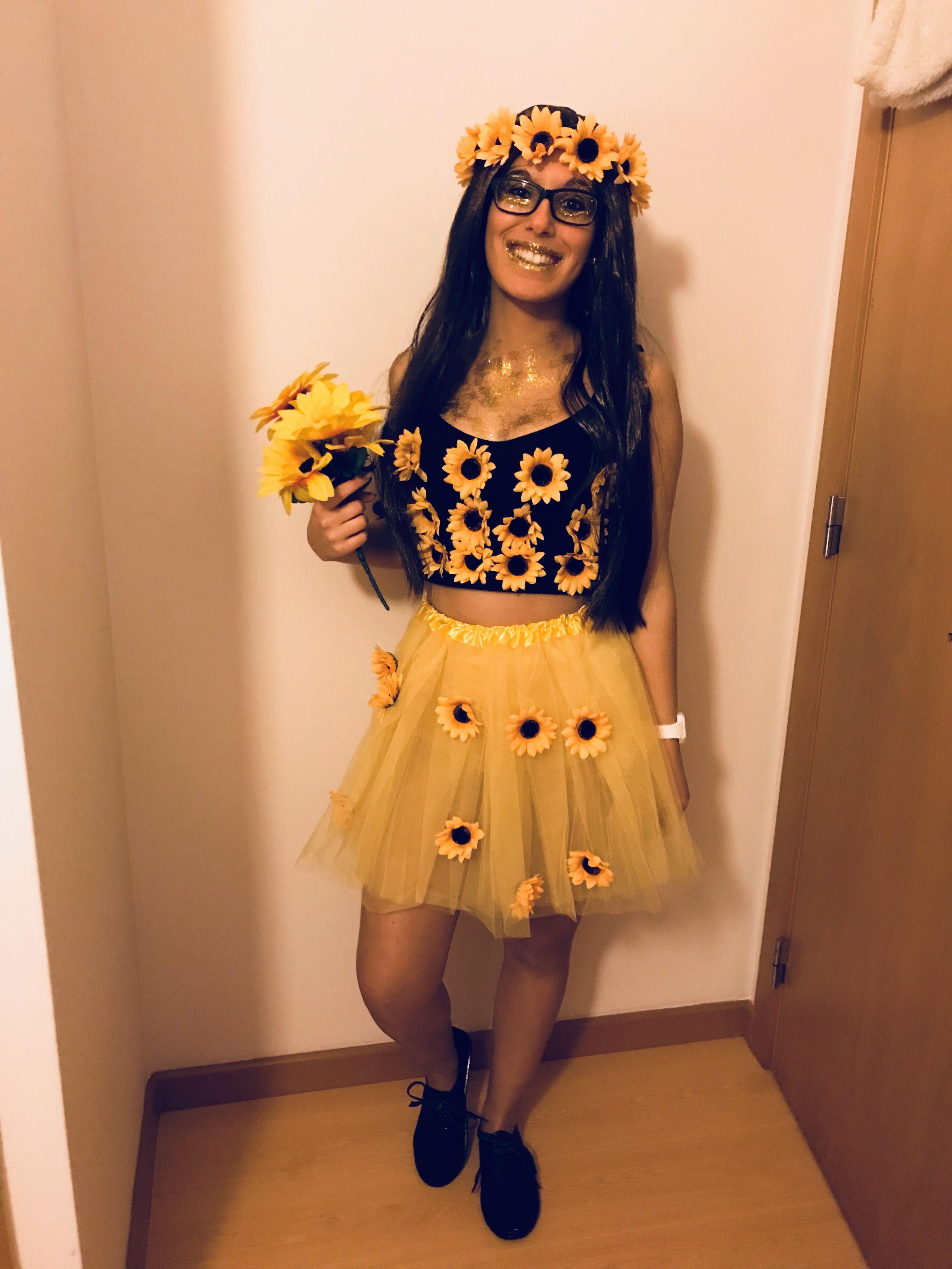 9f32c6b75 Flower  girassol  fantasia  carnaval