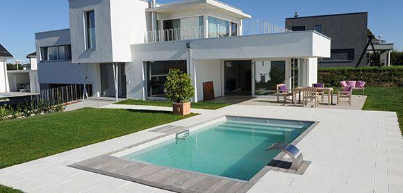Reportage photo d\'une piscine design en Suisse | Pinnwand Gartenpool ...