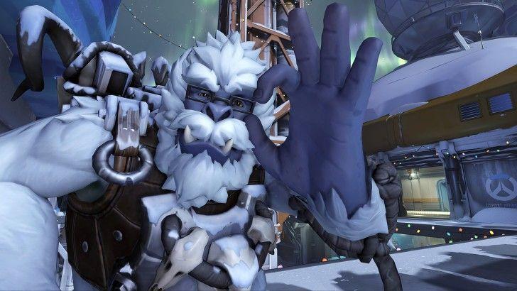 Winston Christmas Skin.Winston Yeti Winter Wonderland Skin Overwatch Wallpaper