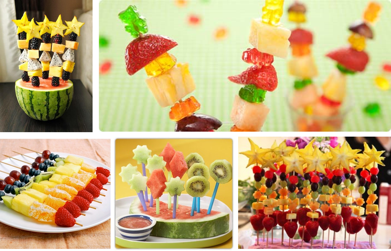Ideas y cosas para tus fiestas infantiles frutas para los - Comidas de cumpleanos infantiles ...