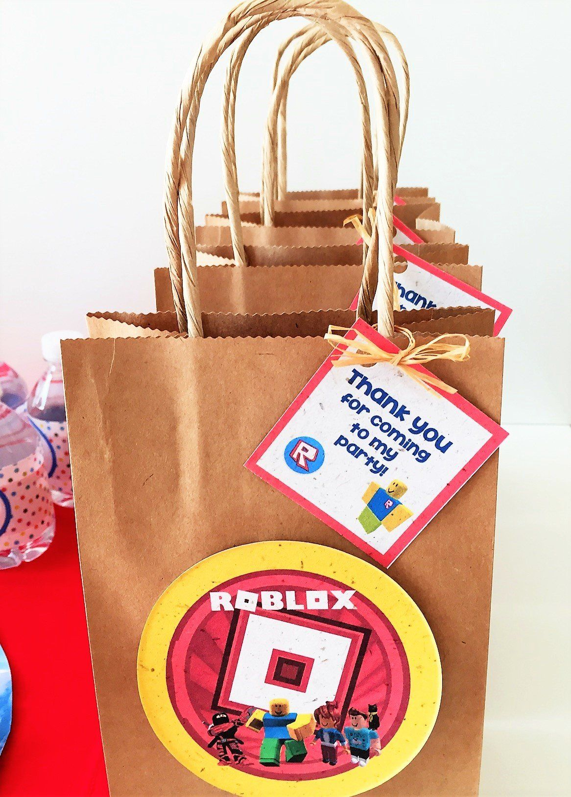 Roblox Inspired Favor Bag Tags Six 4 Inch Bags Not Included