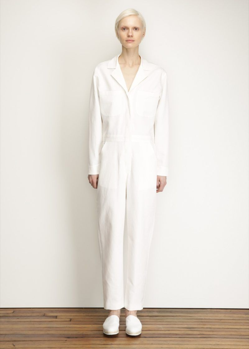 White Long Sleeve Jumpsuit | White Jumpsuit Ideas | Pinterest ...