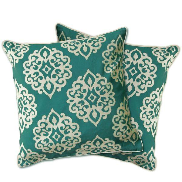 Lush Decor Sophie Zipper Throw Pillow Shell Set Of 40 Turquoise Extraordinary Lush Decor Pillows
