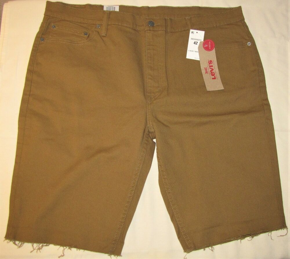 c4df73c121 LEVI'S 511 SLIM FIT CUT OFF SHORTS BROWN STRETCH JEAN MENS SIZE 42 NWT # Levis #CutOff