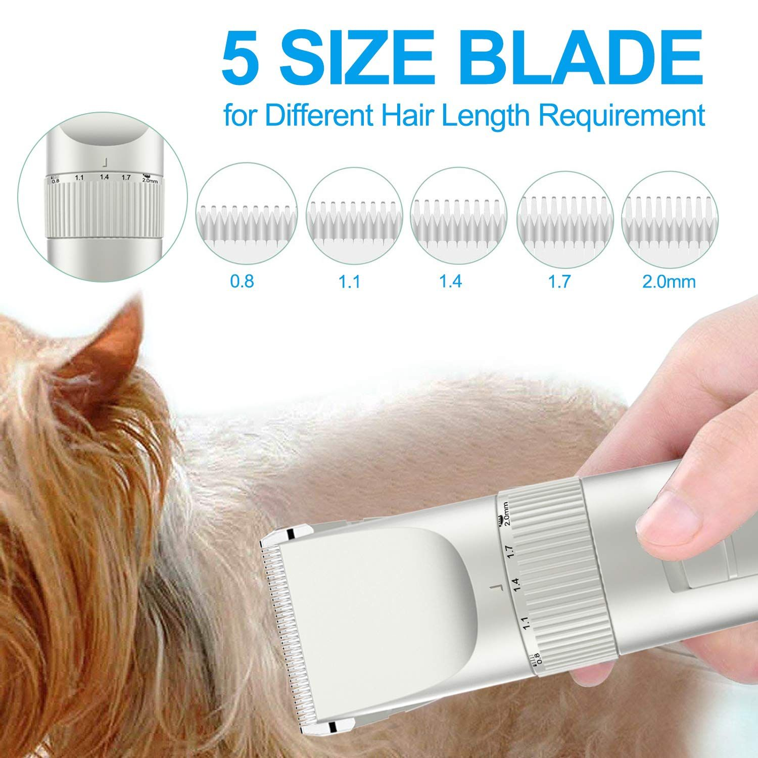 Avaspot Dog Clippers Professional CordlessElectric Pet