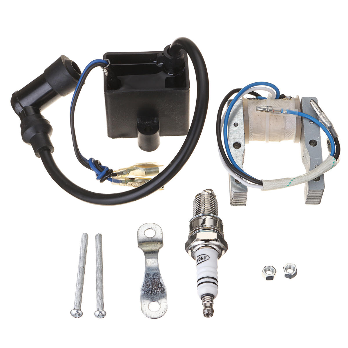 2 CDI Ignition 1 spark plug For 50cc 80cc Motor Motorized Bicycle parts