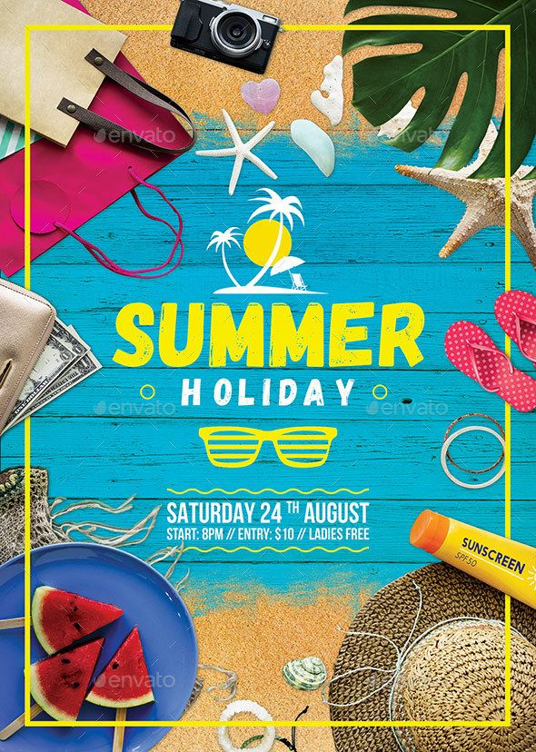 Summer Holiday Flyer Template Psd Download Here Https