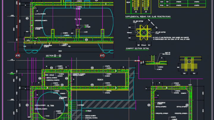 Oil Tank Reinforcement detail free drawing | Autocad Free DWG