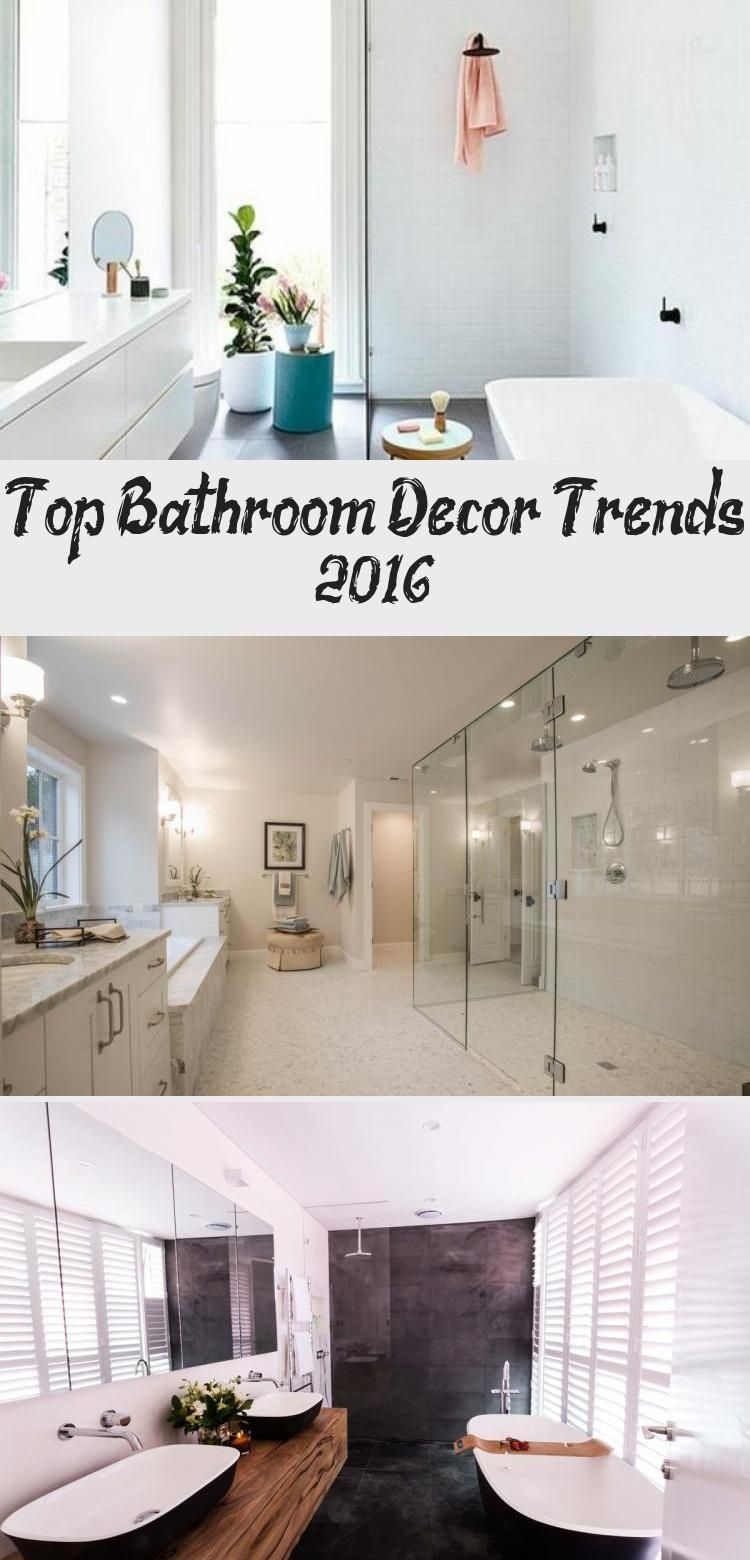 Top Bathroom Decor Trends 2016 In 2020 With Images Bathroom