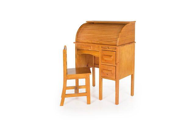 Home Accents Jr Roll-Top Desk - Light Oak by Ashley HomeStore