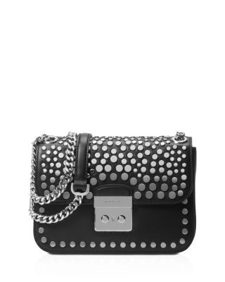 07b82bd200d6 MICHAEL MICHAEL KORS Jenkins Stud Sloan Editor Medium Chain Shoulder Bag.   michaelmichaelkors  bags  shoulder bags  leather  polyester  lining