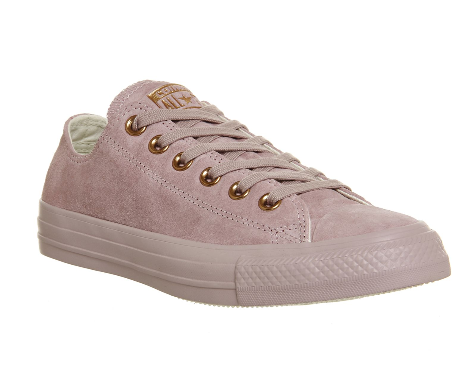 Converse, All Star Low Leather, Burnished Lilac Rose Gold ...