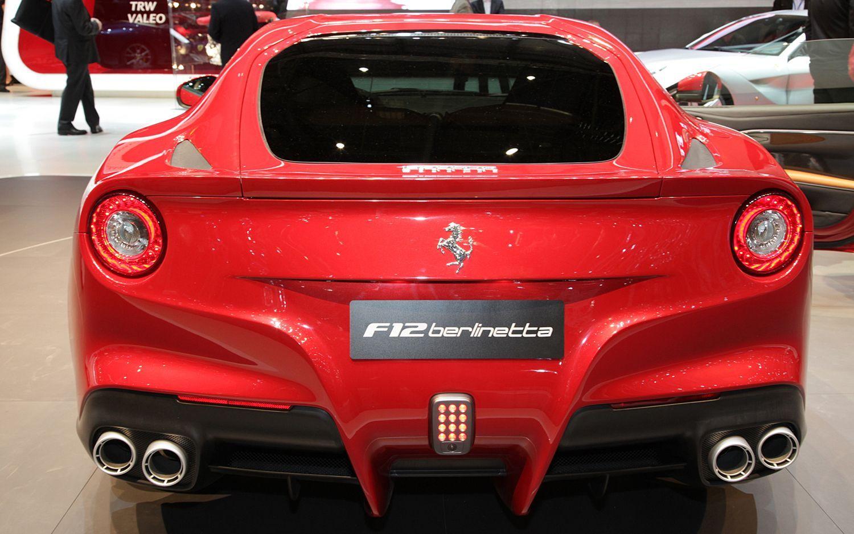 Ferrari F12 Berlinetta Red Car Wallpapers Rear View Ferrari