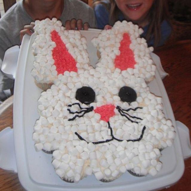 Cupcake bunny face...cute | Bunny face, Cupcakes, Cake