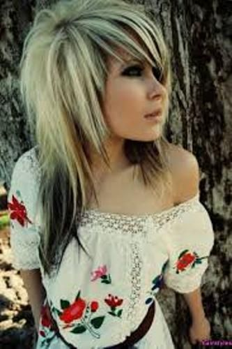 Admirable Emo Girl Medium Layered Haircut With Bangs For Me Pinterest Hairstyle Inspiration Daily Dogsangcom