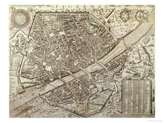 Firenze in antiche mappe antiche mappe di firenze e della toscana pianta di firenze nel 1595 altavistaventures Images